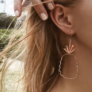 Jewelry - Boho Style Beach Pineapple Drop Earrings